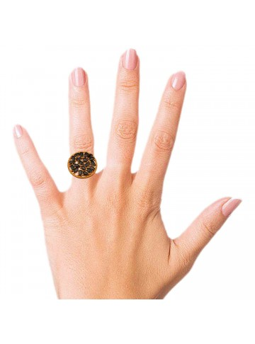 Sapphire Cluster Golden Cocktail Ring