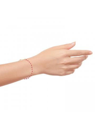 Pink Chalcedony Beads Bracelet