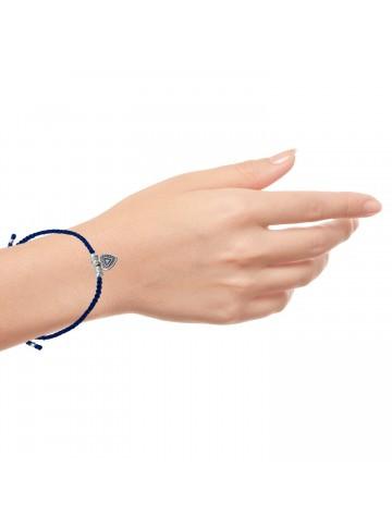 Antique Blue Thread Bracelet