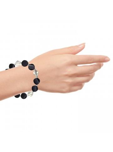 Black Onyx Wavy Bracelet