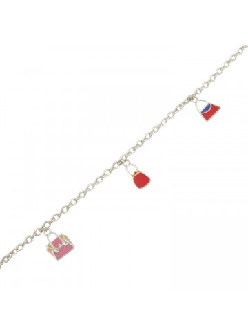 Pink Handbag Charm Bracelet