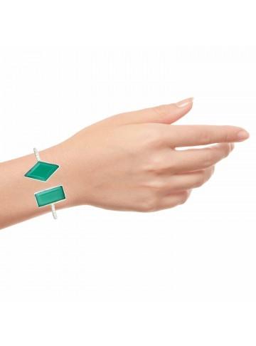 Wonder Green Onyx Silver Bracelet