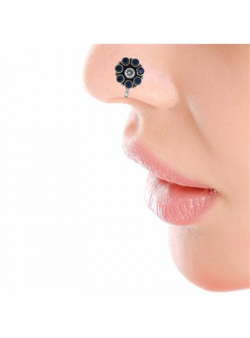 Iolite Navy Nose Pin