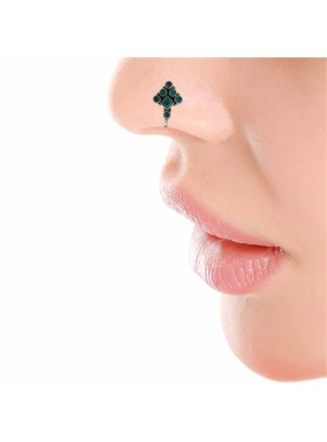 Green Onyx Nose Pin
