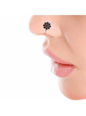 Carnelian Floral Nose Pin