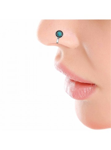 Turquoise Chakra Nose Pin