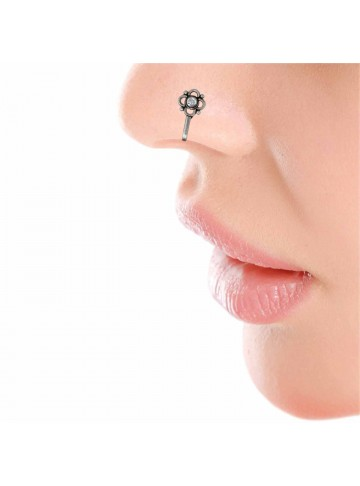 Crystal Floral Nose Pin