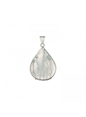 Spiral Mother of Pearl Pendant
