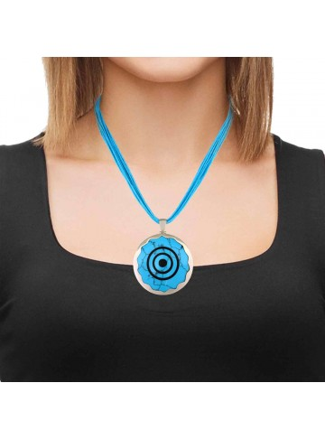 Turquoise Circle of Love Pendant