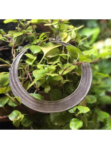 Handmade Sterling Silver Color Choker Necklace for Women and Girls