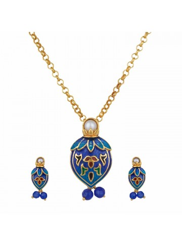 Petal Blue Pendant Set