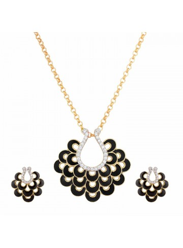 Black Beauty Pendant Set