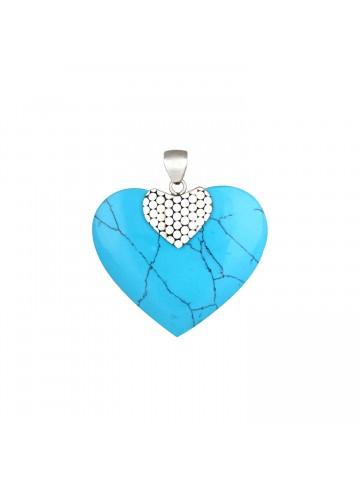 Heart Turquoise Pendant