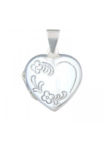 Floral Engraved Locket Pendant