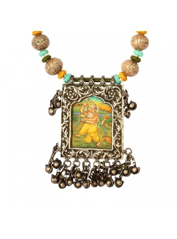 Ganesh Square Pendant Necklace
