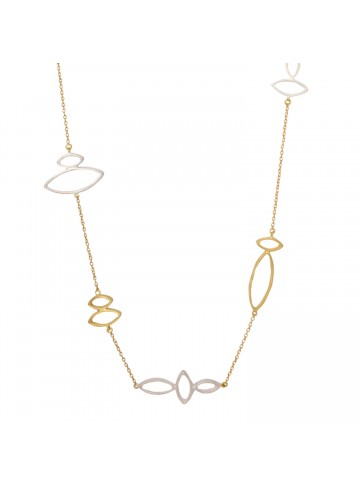 Two Tone Silver Necklace