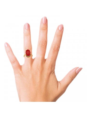 Striking Red Onyx Ring
