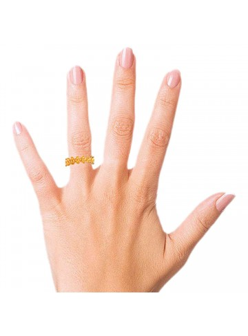 Petite Flower Band Ring