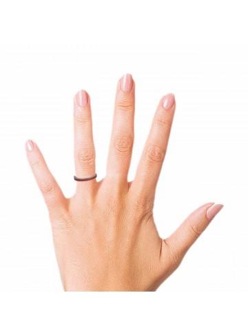 Red Enamel Band Ring