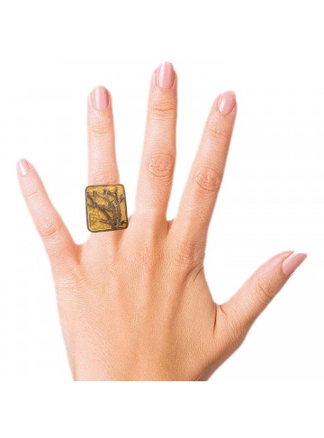 Two Tone Graphical Branches RIng