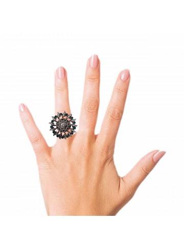 Chakra Green Onyx Silver Ring