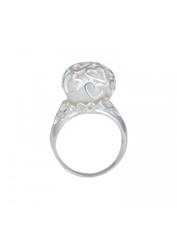 Hearty Pearl Ring