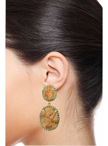 Breathtaking Bold Pluto Zircon Earrings