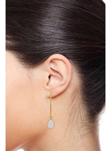 Pink Quartz Long Drop Earrings