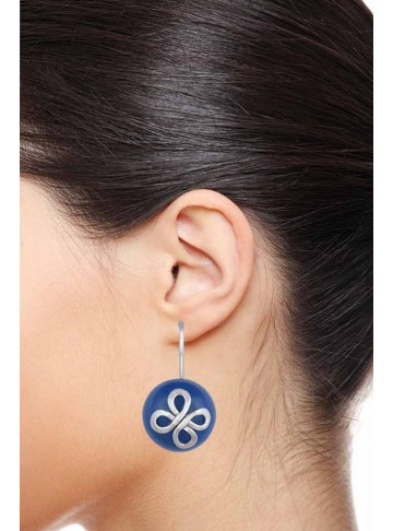 Luxury Floral Chalcedony Ball Drop Earrings