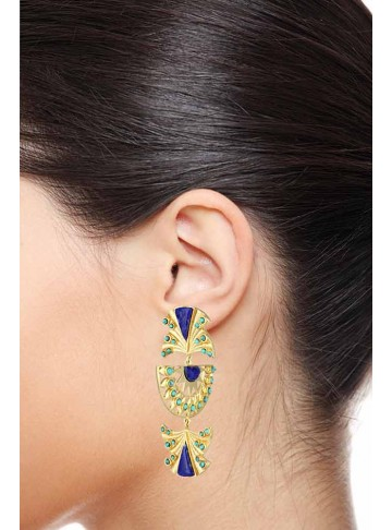 Half and Half Egyptian Statement Earrings