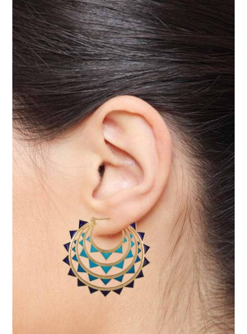 Egyptian Queens Chand Bali Earrings