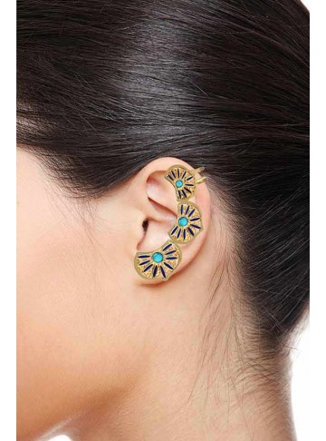 Turquoise Earrings Ear Cuff Earrings
