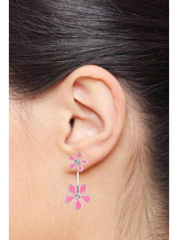 Two Step Floral Earrings