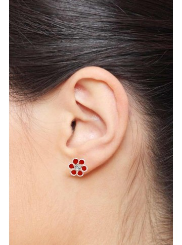 Red Crystal Studs