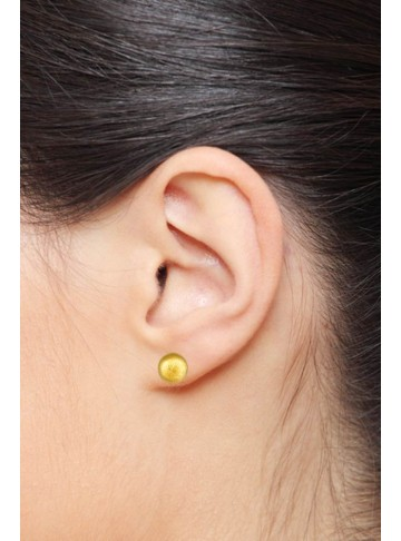 Tiny Gold Plated Round Dot Stud Earrings for Kids and Girls