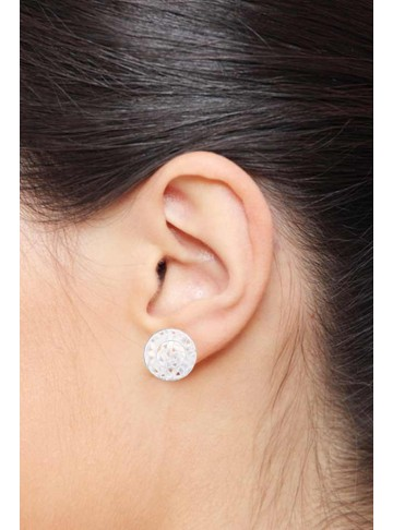 Criss Cross Silver Stud Earrings