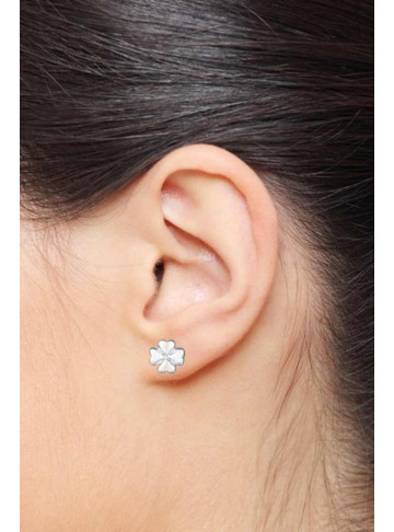Floral Petal Stud Earrings