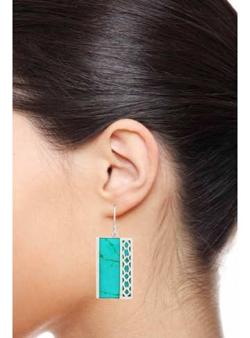 The Filigree Turquoise Drop Earrings