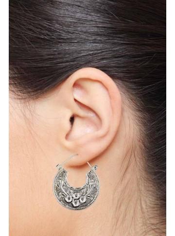 Statement Earrings Online - Floral Chandbalis