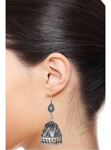Indian Jewelry Oxidized Handmade Women Bell Jhumka Earrings for Women and Girls