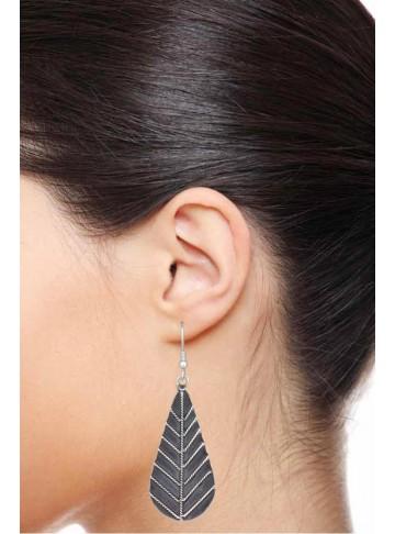 Leafy Silver Earring