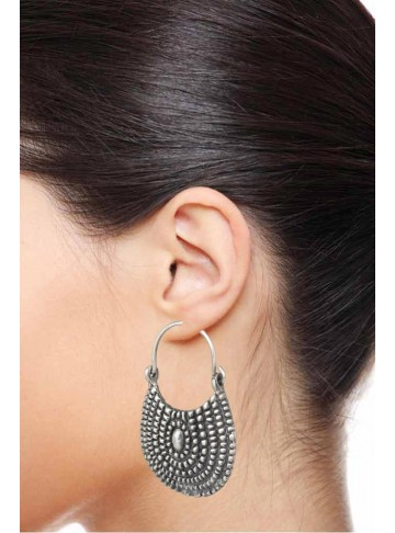 Handbag Silver Hoop Earrings