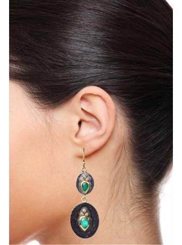 Winds of Green Earrings