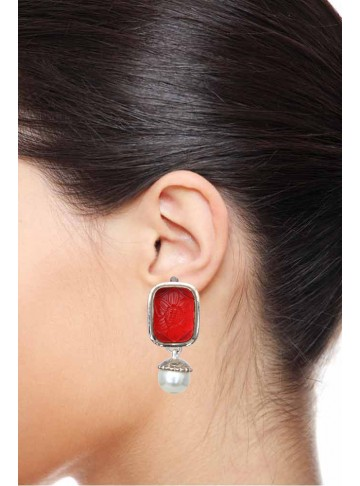 Pasha Tourmaline Rectangular Silver Drop Earrings