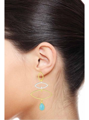 True Blue Silver Earrings