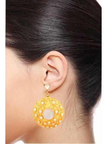 Festival Moonstone Dangler Earrings