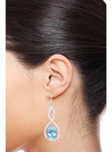 Starlight Blue Topaz Earrings