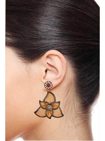 Feminine Floral Aura Earrings