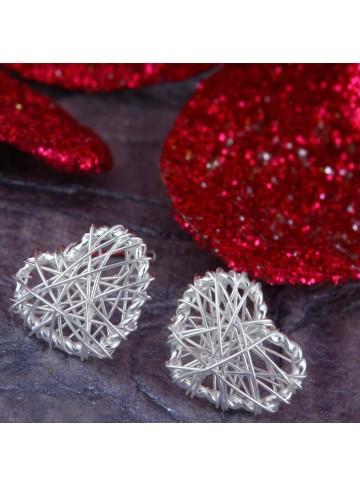 Wired Heart Stud Earrings